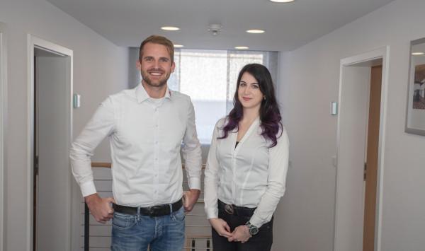 Florian Weinhardt und Esther Böse